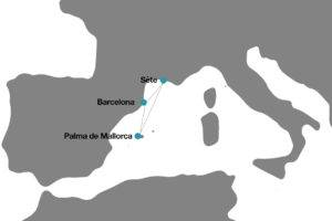 Itinerario del crucero españa Francia junio 2018