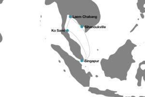Itinerario crucero desde Singapur a Tailandia y Camboya