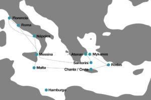 crucero desde Roma a Grecia y Malta