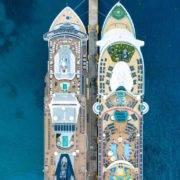Cubierta barco de crucero, viaje perfecto