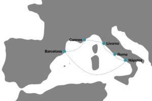 Itinerario Crucero Disney por el Mediterraneo