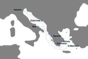 Oferta crucero desde Italia a Grecia Albania y Croacia