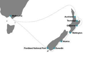 itinerario crucero Australia Nueva Zelanda