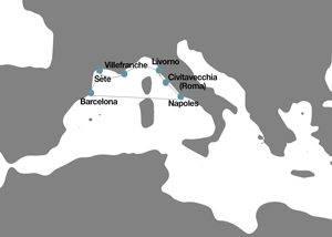 Itinerario Crucero Mediterraneo