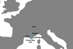 Itinerario crucero por el Ródano y Seona
