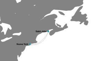 Itinerario crucero Disney Nueva York a Canadá