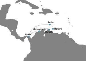 Itinerario crucero antillas, colombia, panamá
