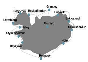 Itinerario crucero expedición por Islandia