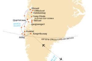 Ruta crucero en Groenlandia