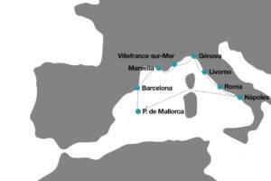 ruta-crucero-disney-mediterraneo-12-dias