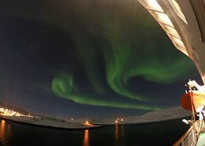 crucero auroras boreales por noruega, vadso