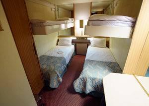 Cabina interior barco Celestyal Olympia