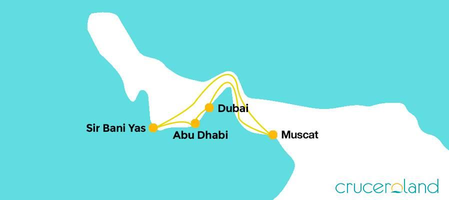 Itinerario crucero por los Emiratos Árabes