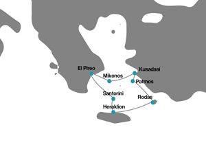 Itinerario crucero Egeo Grecia