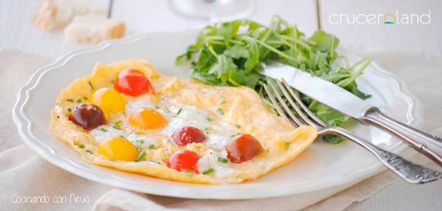 Receta tortilla sana mediterranea
