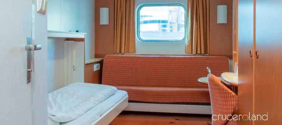 Cabina exterior MS Midnatsol, Hurtigruten