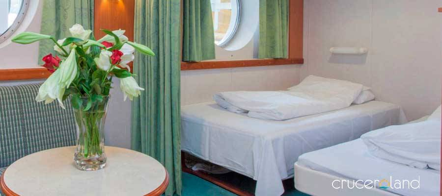 Cabina superior MS Midnatsol, Hurtigruten