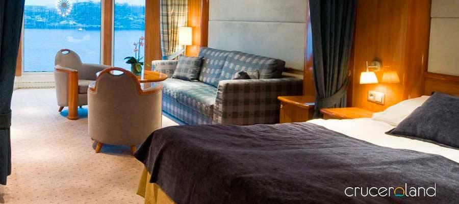 Suite crucero expedición Hurtigruten
