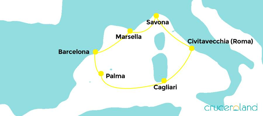 ruta desde barcelona mediterraneo