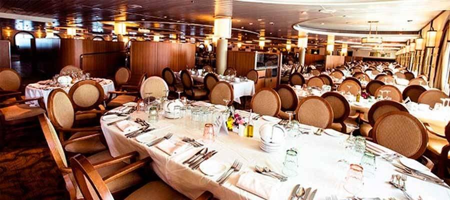 Restaurantes y gastronomía en crucero Sovereign de Pullmantur
