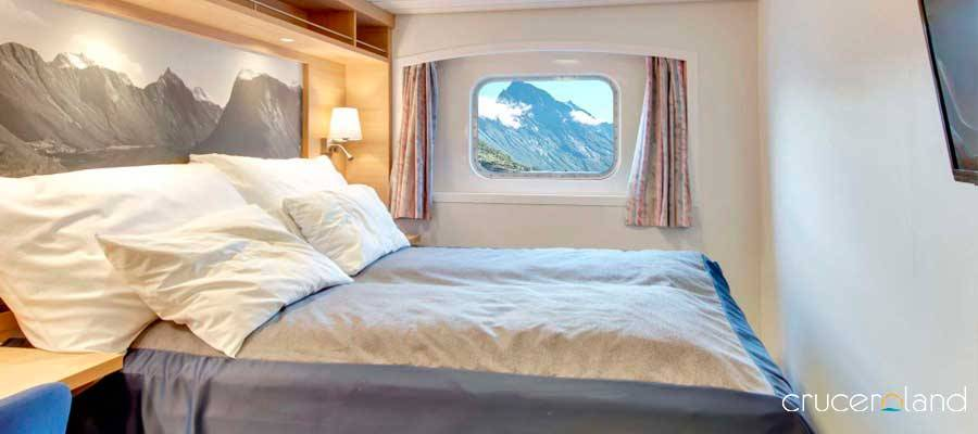 Camarote exterior superior de Hurtigruten