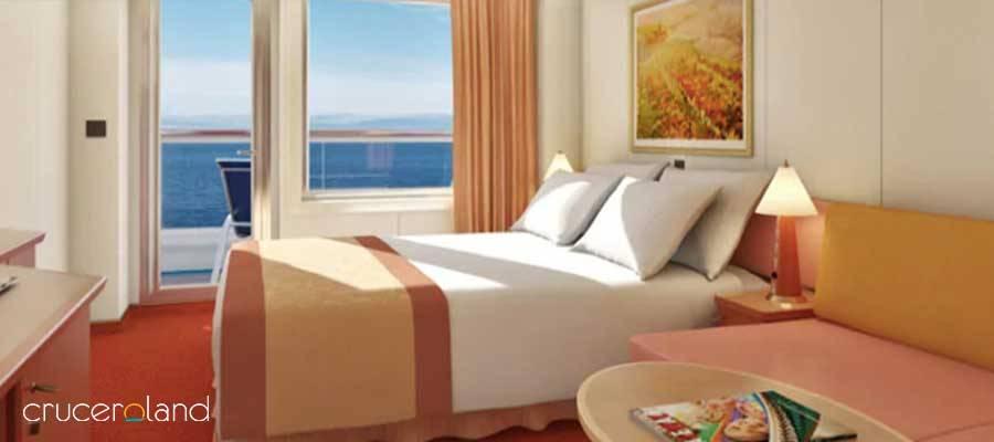 Diferentes camarotes y suites crucero Carnival