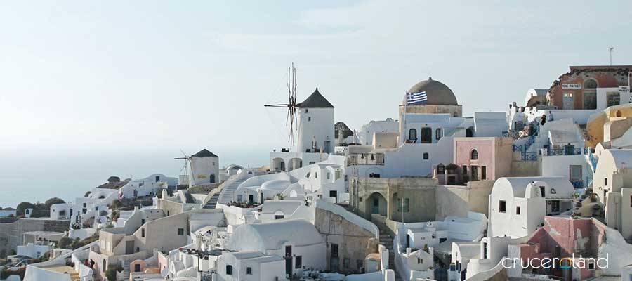 Crucero por el Egeo en Santorini