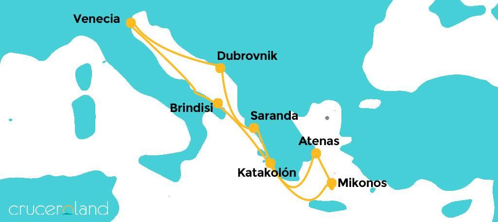Itinerario crucero por el Adriático