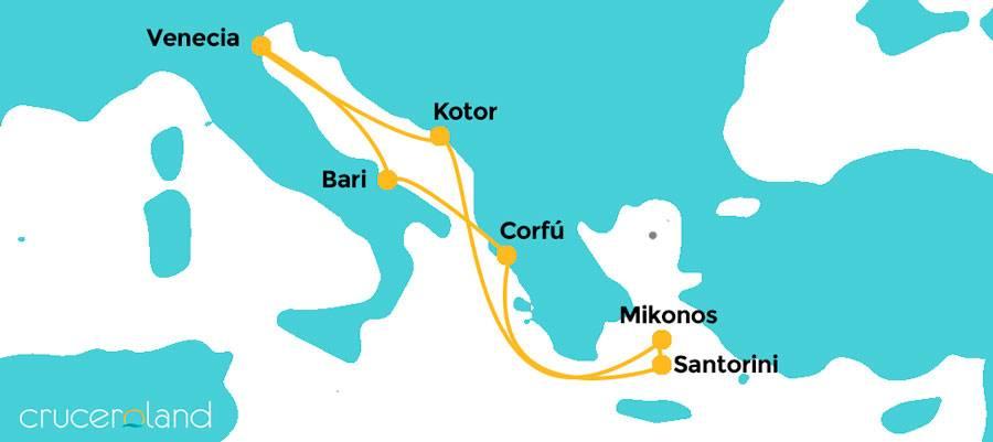 Itinerario crucero Adriático