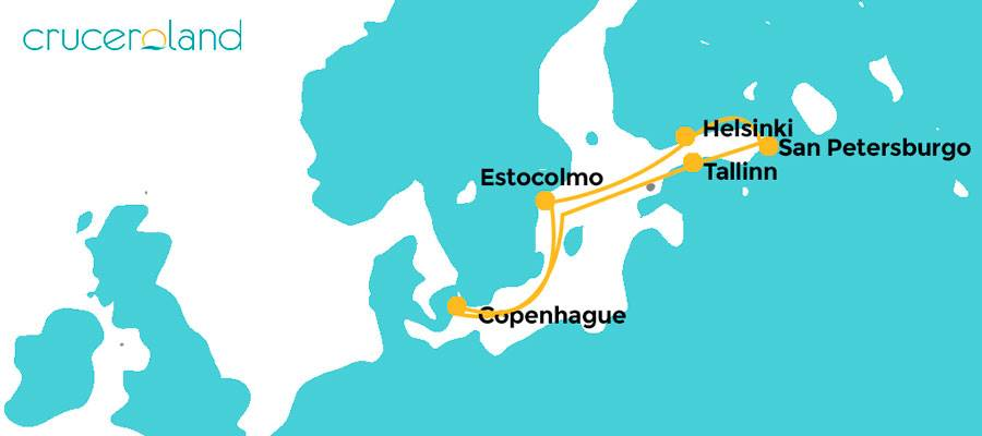Itinerario Crucero Capitales Bálticas Royal Caribbean