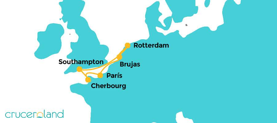 Itinerario Crucero Capitales Europa