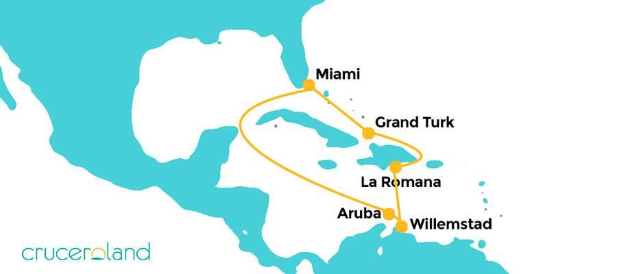 Itinerario Crucero Horizon Caribe Occidental