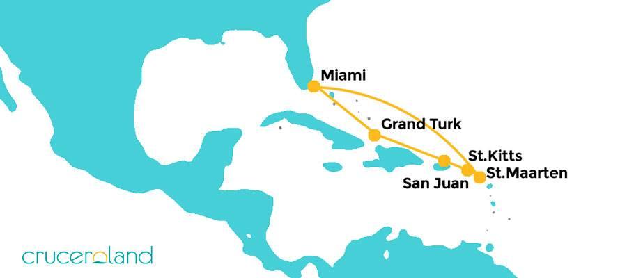 Itinerario Crucero Oriental Carnival Horizon
