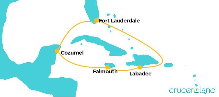 Itinerario Crucero Caribe Haiti Jamaica México