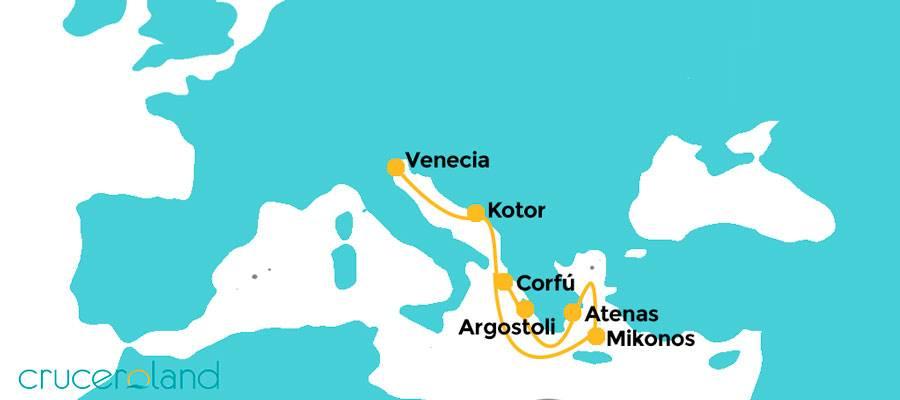 Itienrario crucero Islas Griegas Royal Caribbean