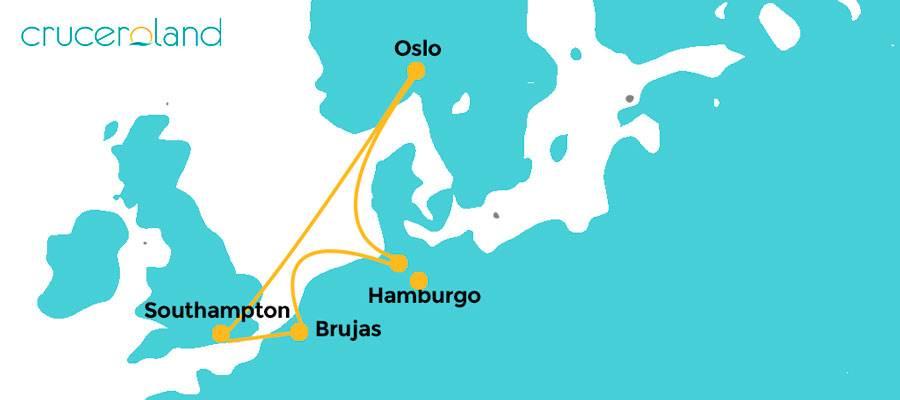 Itinerario crucero Norte Europa Royal Caribbean