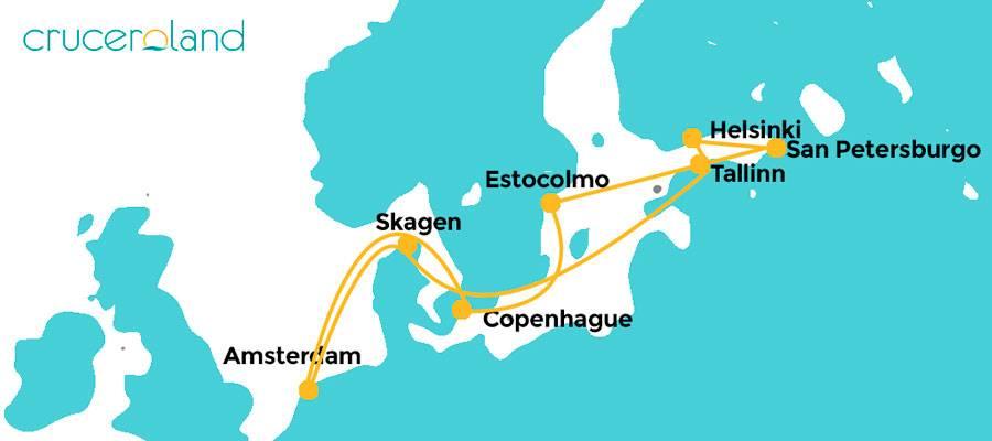 Itinerario crucero Royal Caribbean Norte Europa