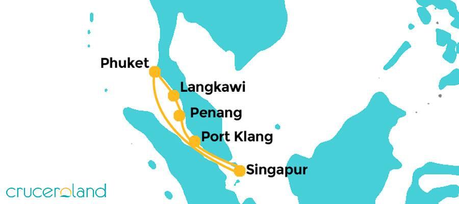 Itinerario crucero Tailandia y Malasia