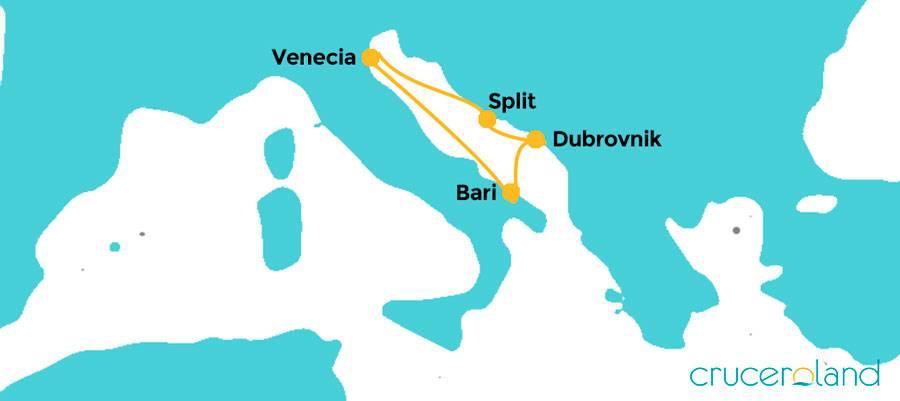 Itinerario Mini Crucero Adriático