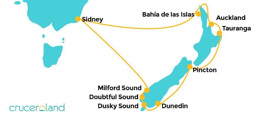 Itinerario crucero por Nueva Zelanda Royal Caribbean
