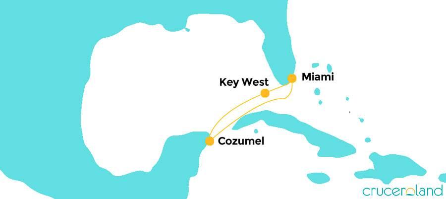 Itinerario Mini Crucero Estados Unidos y México