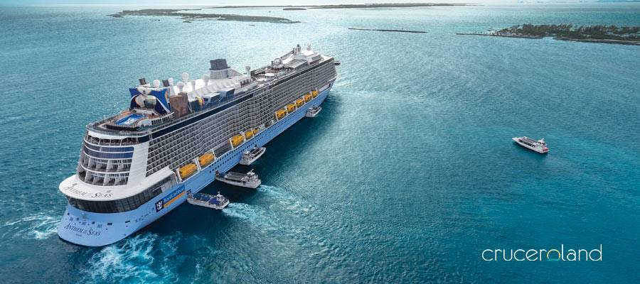Barcos crucero de Royal Caribbean y Symphony of the Seas