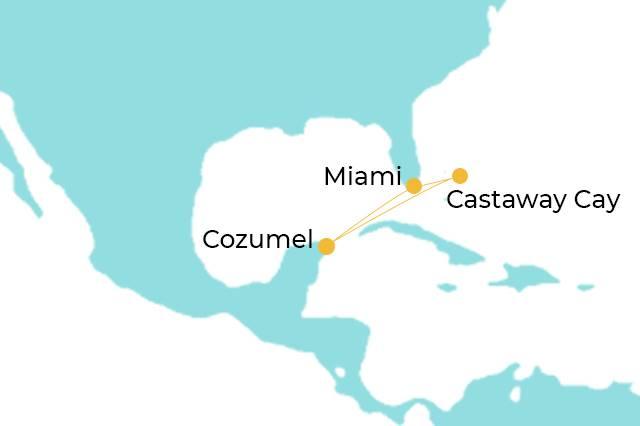 ruta por el caribe y Mexico