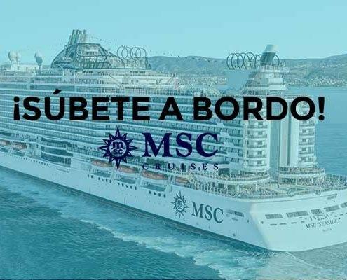 Información Cruceros con MSC Cruceros