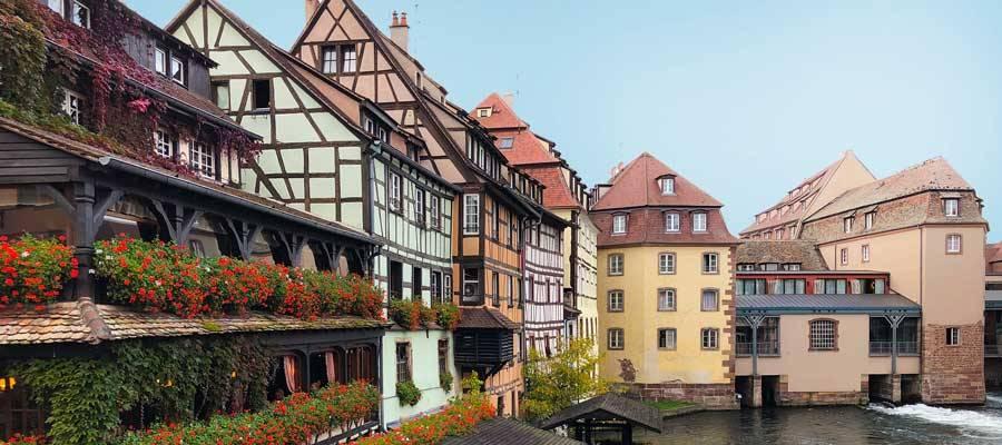 El barrio de Petite France en Estrasburgo